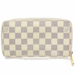 💯 Auth Louis Vuitton Zippy  Damier Azur Wallet